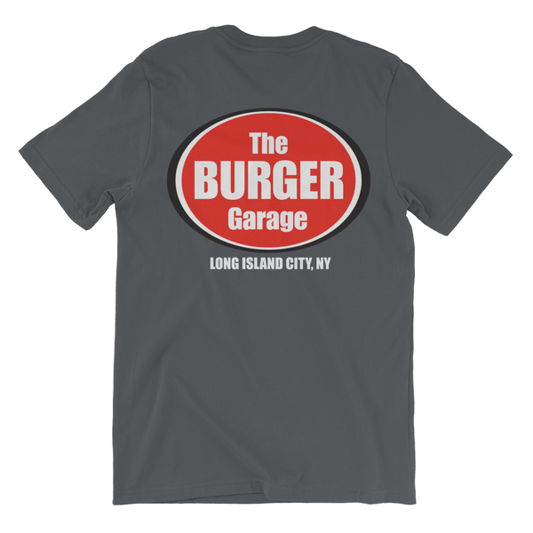 The Burger Garage Short Sleeve T-Shirt, Youth Charcoal Grey