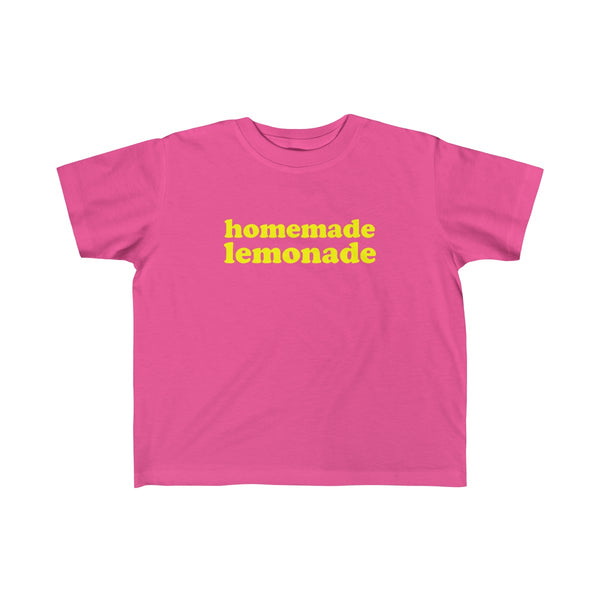 Homemade Lemonade Tshirt for Toddler Kids, Pink