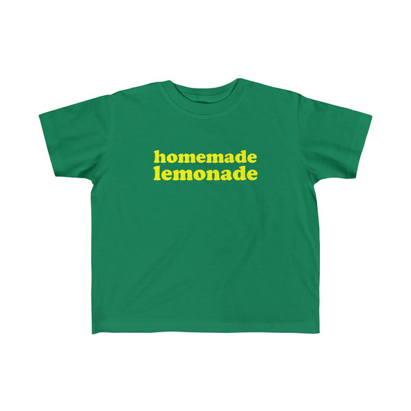 Homemade Lemonade Tshirt for Toddler Kids, Green
