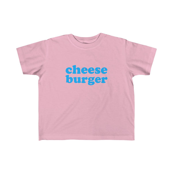 Cheese Burger Short Sleeve T-shirt for Toddler Kids, Pink