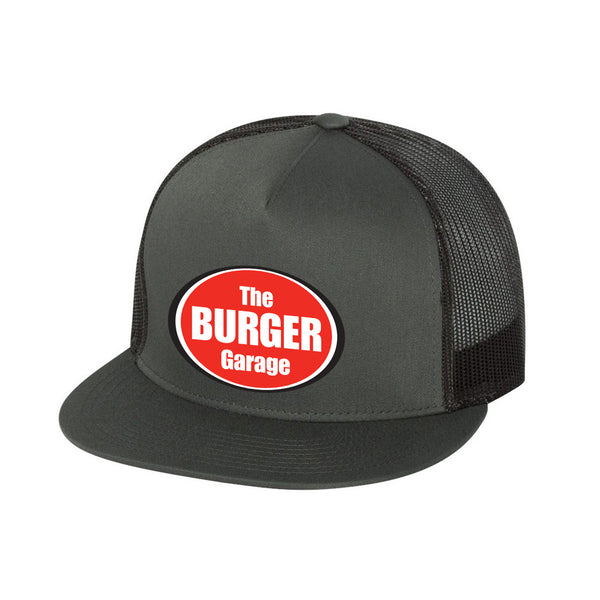 The Burger Garage Trucker Hat, Charcoal Grey
