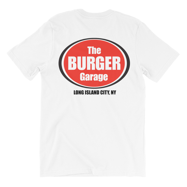 The Burger Garage Short Sleeve T-Shirt, White, Youth Sizes