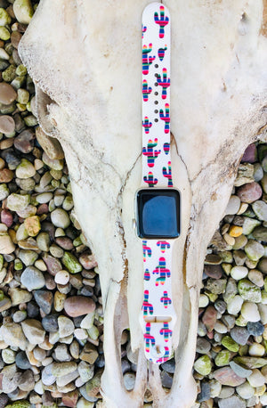 Serape cactus Apple watch band