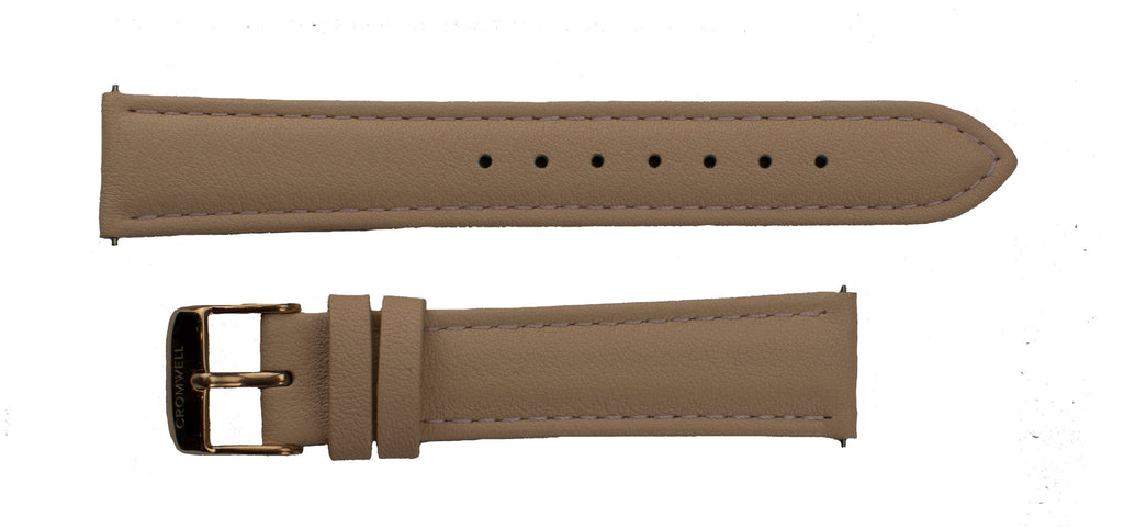 Watch Band- 18mm Nude w/rose gold buckle (For 36mm and 38mm watch cases) - Cromwell Watch Company