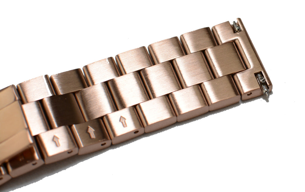Watch Band- 22mm Rose Gold Stainless Steel (For 44mm and 48mm watch cases)