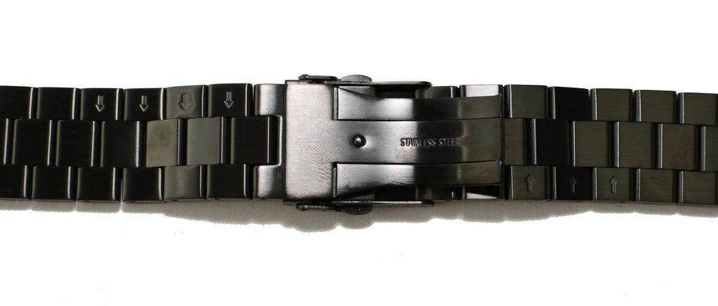 Watch Band- 22mm Black Stainless Steel (For 44mm and 48mm watch cases)