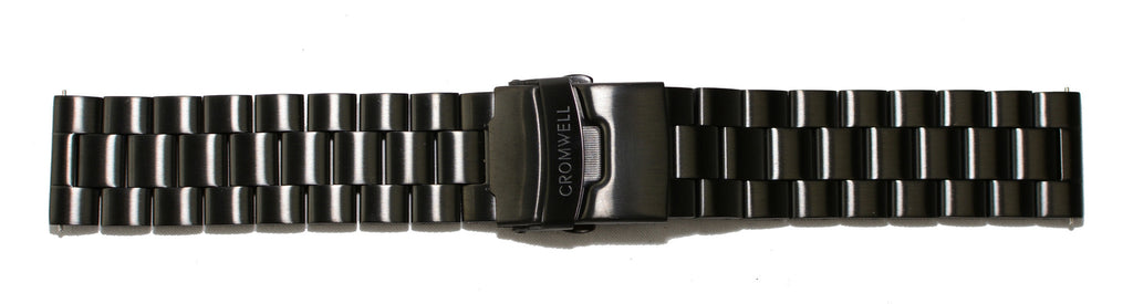 Watch Band- 22mm Black Stainless Steel (For 44mm and 48mm watch cases) - Cromwell Watch Company