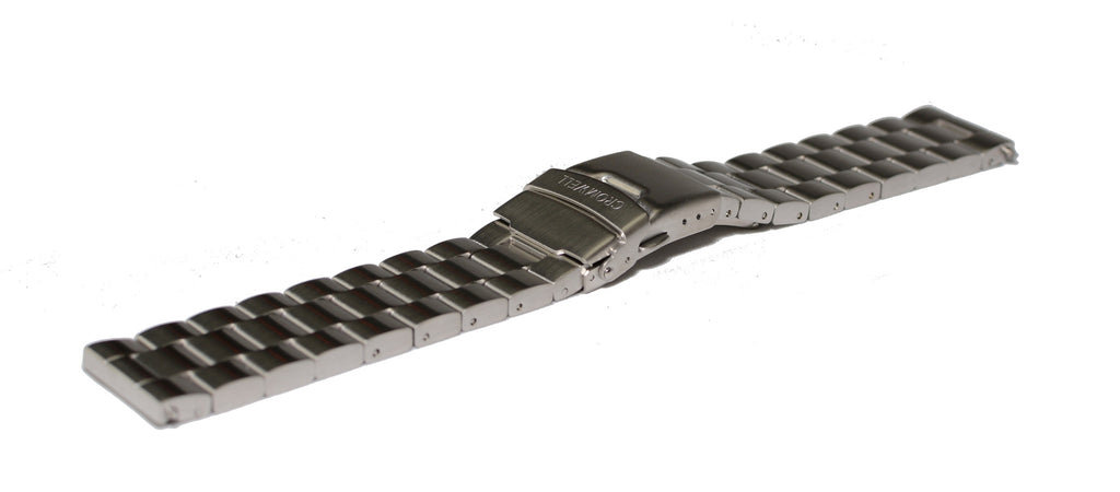 Watch Band- 22mm Silver Stainless Steel (For 44mm and 48mm watch cases) - Cromwell Watch Company