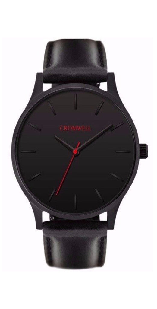 "40mm ""Limited 40"" - Black on Black - Cromwell Watch Company"