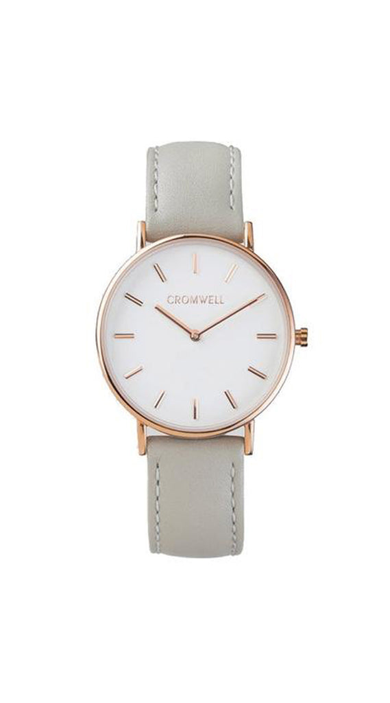 "36mm ""Newport"" - Rose Gold Case with White Face - Cromwell Watch Company"