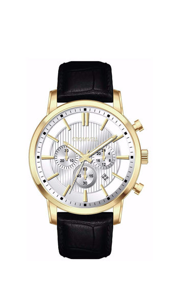 "44mm ""Balboa"" - Gold Case Chronograph with White Face"