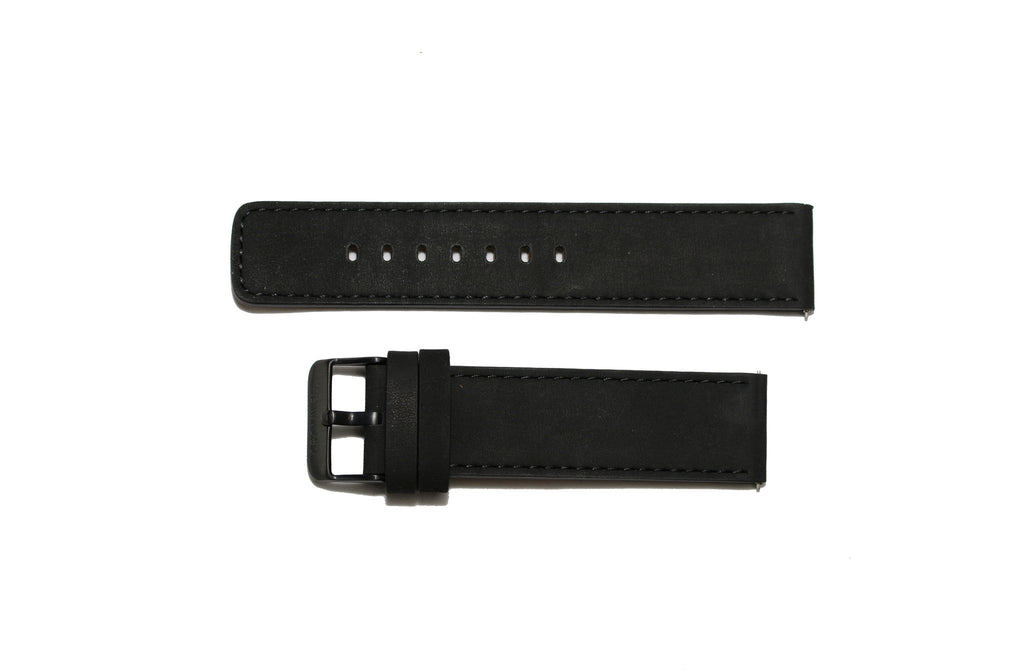 Watch Band- 22mm Matte Black w/black buckle (For 44mm and 48mm watch cases) - Cromwell Watch Company