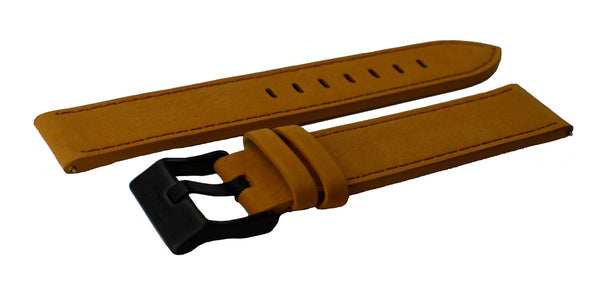 Brown Watch Band w/black buckle 20mm (For 40mm watch cases) - Cromwell Watch Company