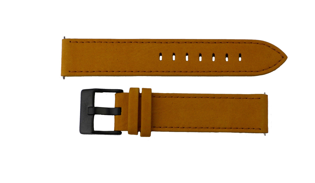 Watch Band- 20mm Brown/ Saddle w/black buckle (For 40mm watch cases) - Cromwell Watch Company