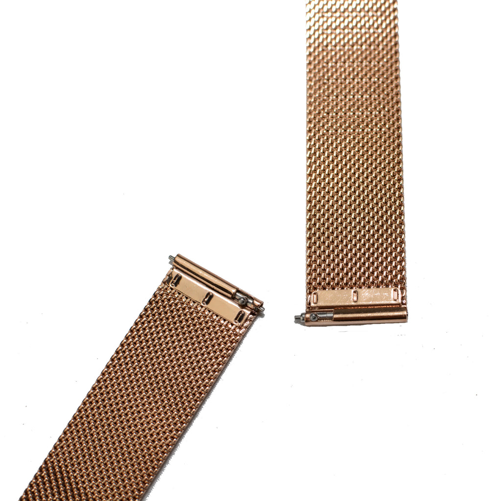Watch Band- 18mm Rose Gold Mesh (For 36mm and 38mm watch cases) - Cromwell Watch Company