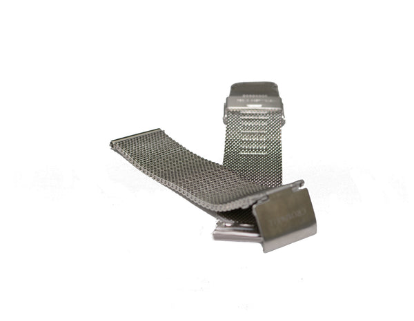 Watch Band- 18mm Silver Mesh (For 36mm and 38mm watch cases)