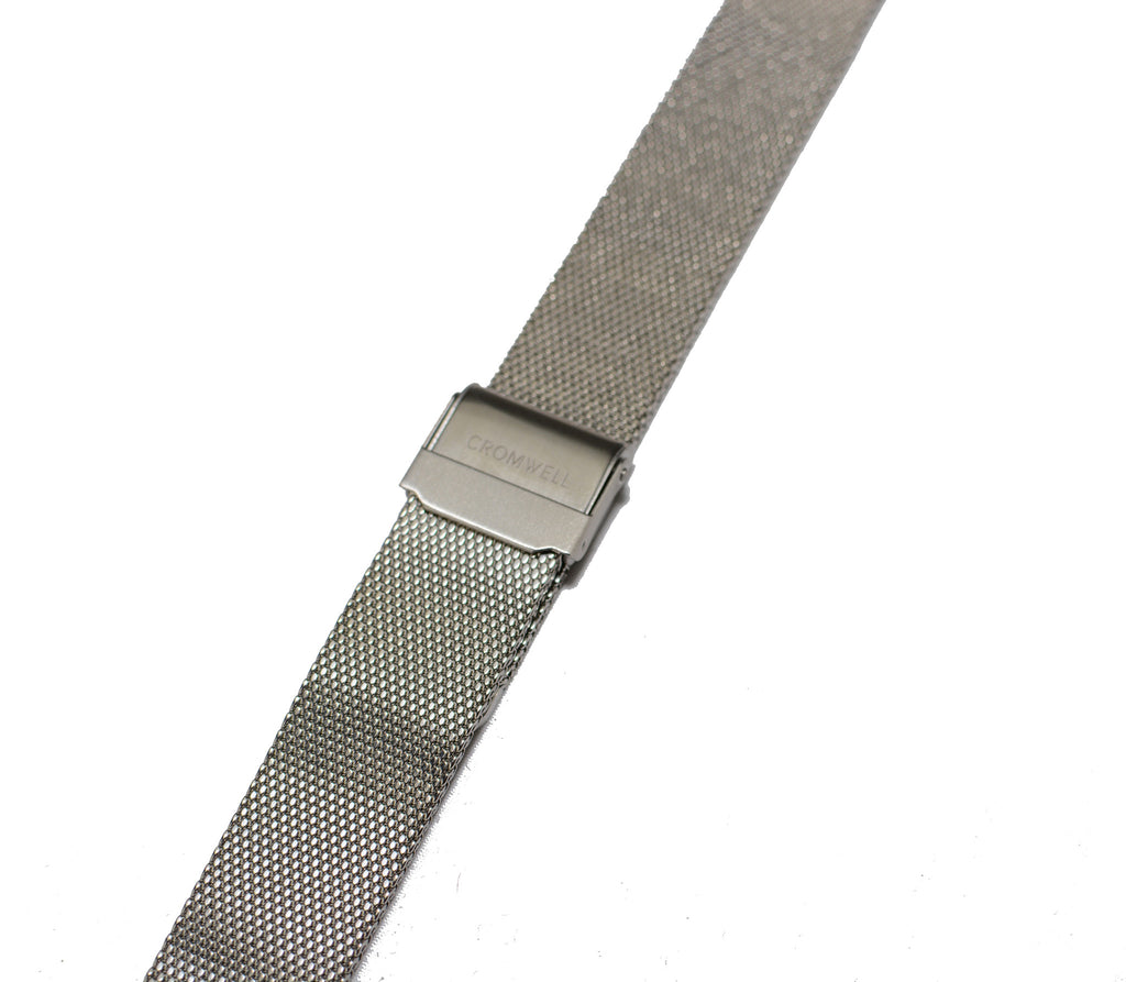 Watch Band- 18mm Silver Mesh (For 36mm and 38mm watch cases) - Cromwell Watch Company