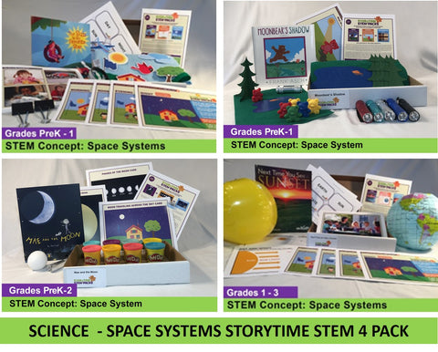 Science - Sun Earth Moon  Storytime STEM 4 Pack