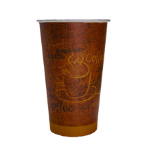 "Load image into Gallery viewer, Regular ""Espresso Gold"" Paper Coffee Cups - Pacific Green Products"