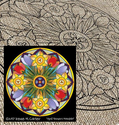 April Showers Mandala