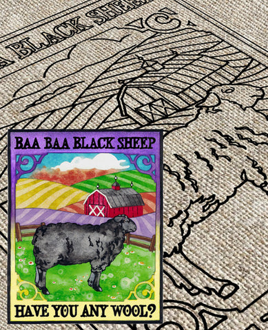 Baa Baa Black Sheep Pattern