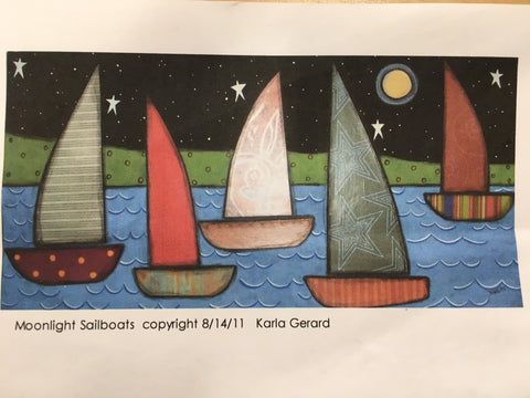 Moonlight Sailboats