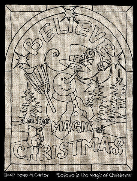Believe in  the Magic of Christmas Pattern