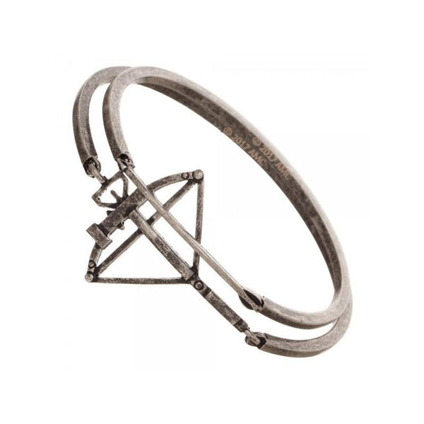 The Walking Dead Daryl Bow and Arrow Hinge Cuff Aged Metal Bracelet