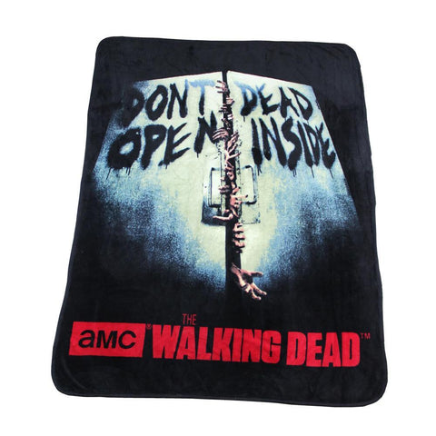 The Walking Dead Don't Open Fleece Throw