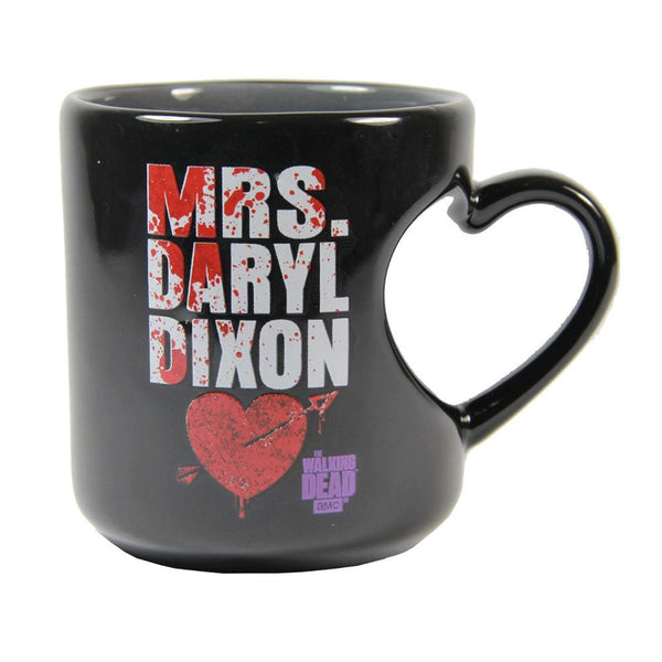 The Walking Dead Mrs. Daryl Dixon Heart Mug