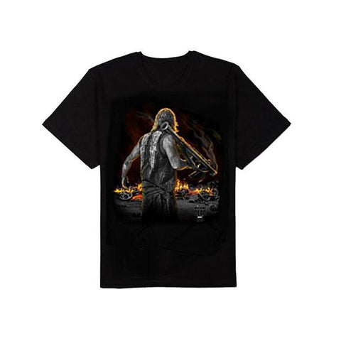 The Walking Dead Daryl Standing With Bazooka Adult T-Shirt