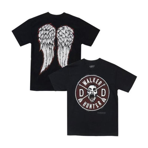 The Walking Dead Daryl Faux Patch & Wings Adult T-Shirt