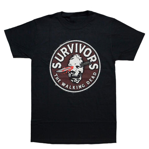 The Walking Dead Survivors Faux Patch Adult T-Shirt