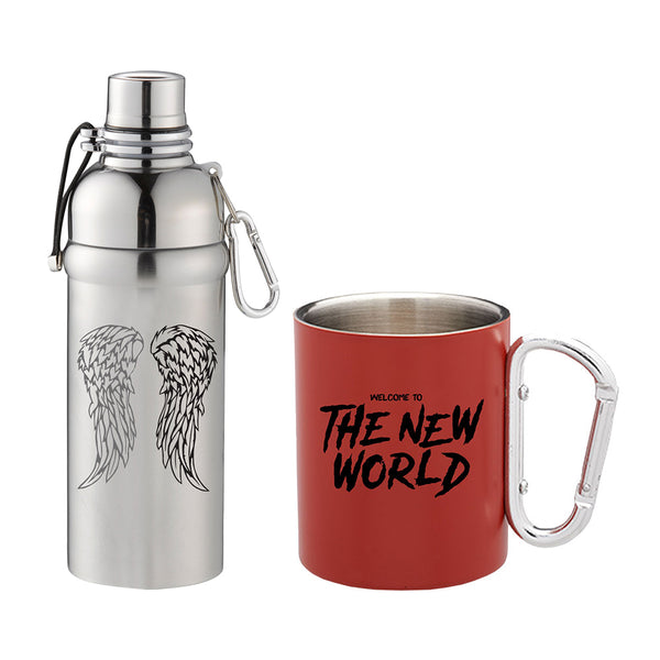 Stainless Steel Mug and Water Bottle Set from The Walking Dead