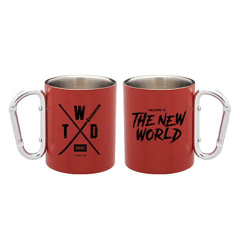 The Walking Dead Welcome to the New World Red Carabiner Mug