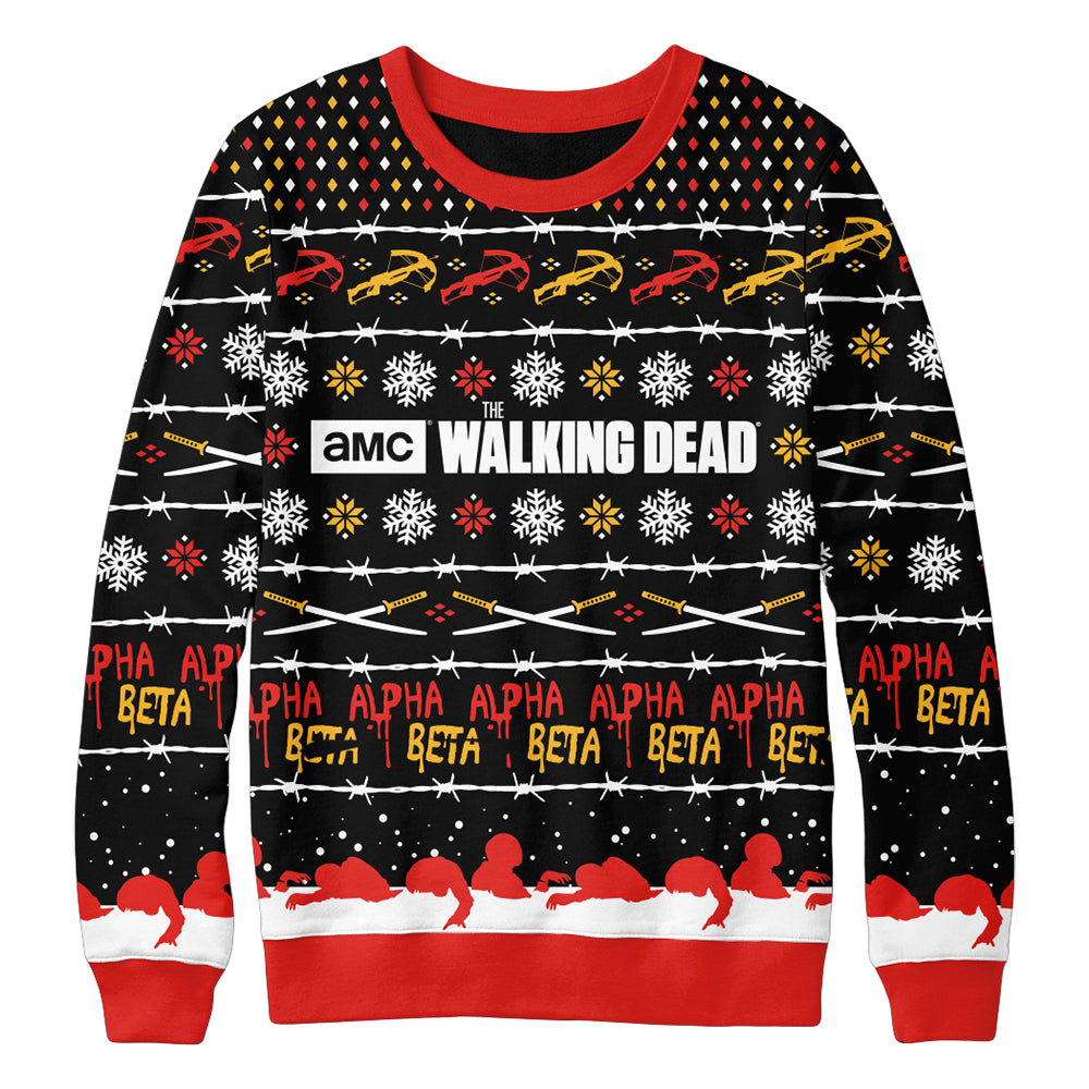 The Walking Dead Exclusive Ugly Christmas Sweater