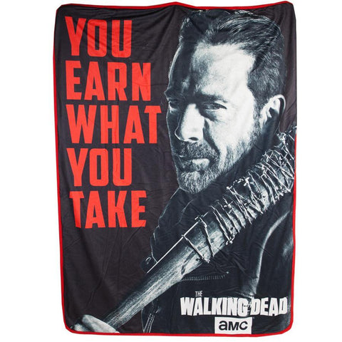 The Walking Dead Negan Earn What You Take Sherpa Blanket