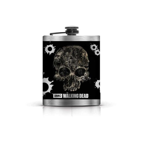 The Walking Dead Skull Flask