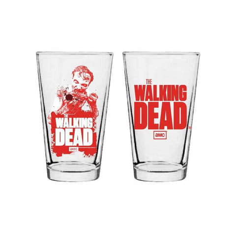 The Walking Dead Logo Zombie Arm Pint Glass
