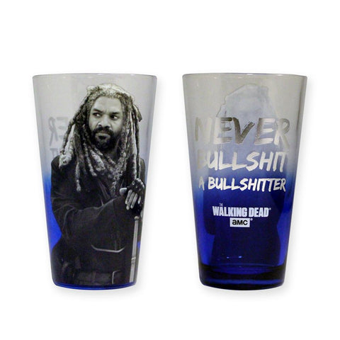 The Walking Dead Ezekiel Bullshit Pint Glass