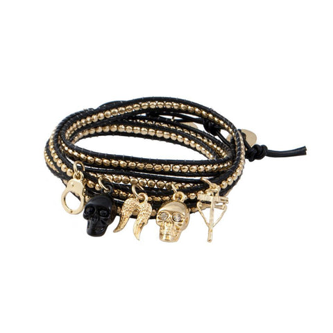 The Walking Dead Charm Wrap Gold Bracelet by Love and Madness