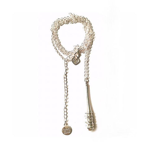 The Walking Dead Lucille Bat Shiny Silver Pendant by Love and Madness