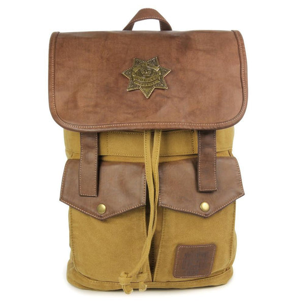 The Walking Dead Rick's Sheriff Brown Backpack