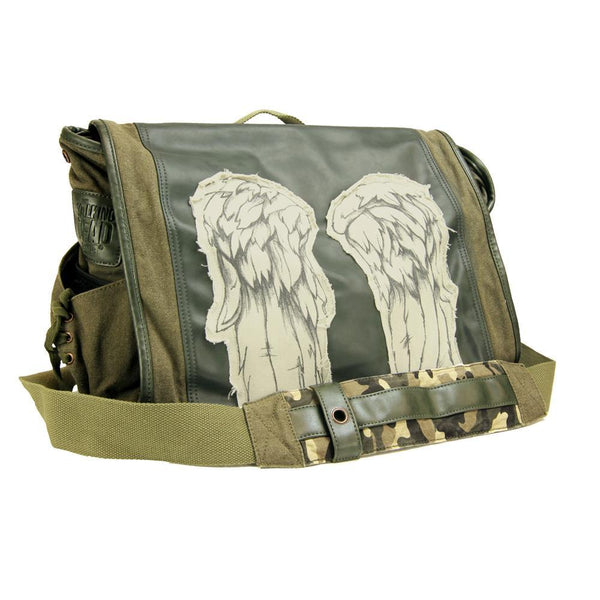 The Walking Dead Daryl Wings Fatigue Green Messenger Bag