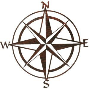 Wall Art Compass Rose