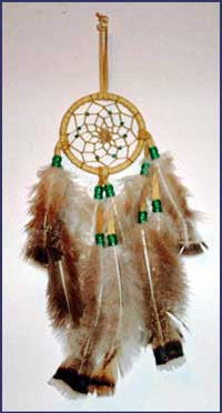 3 Inch Leather Bound  Dreamcatcher