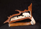 carved caribou antler
