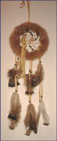 6 Inch Fur Dream Catcher