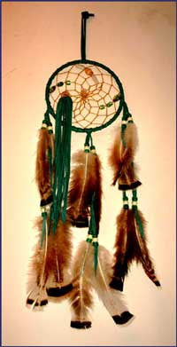 6 Inch Leather Wrapped Dream Catcher