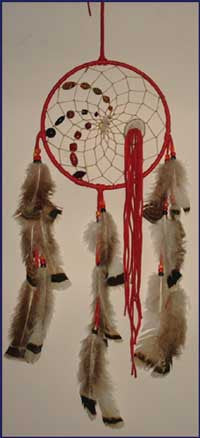 8 Inch Leather Wrapped Dream Catcher